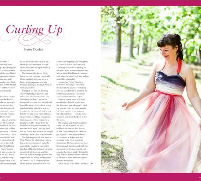 Bry Ony, breast cancer survivor, for Pink Magazine