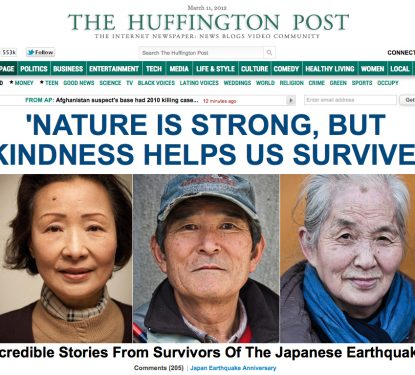 Article for The Huffington Post on the anniversary of the 2011 Tohoku earthquake and tsunami