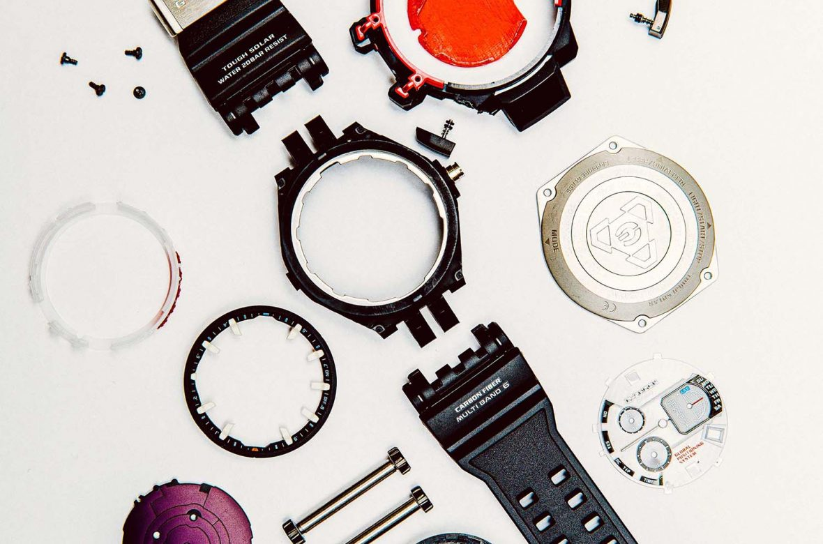 Components of a Casio G-SHOCK watch
