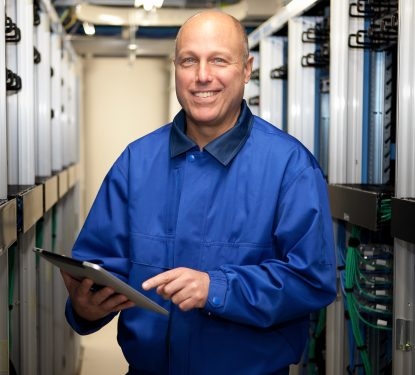Portrait photography for KVH 1 (Server Room)