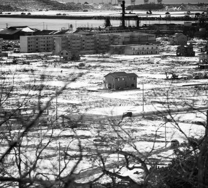 Lone Home Among Ruins, Ishinomaki, Japan