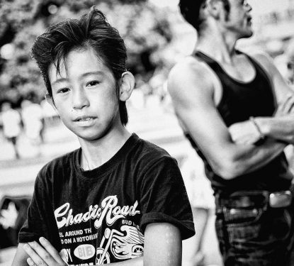 Young rockabilly performer, Tokyo, Japan