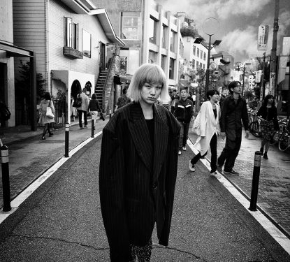 Boy and Giant Jacket, Harajuku, Japan